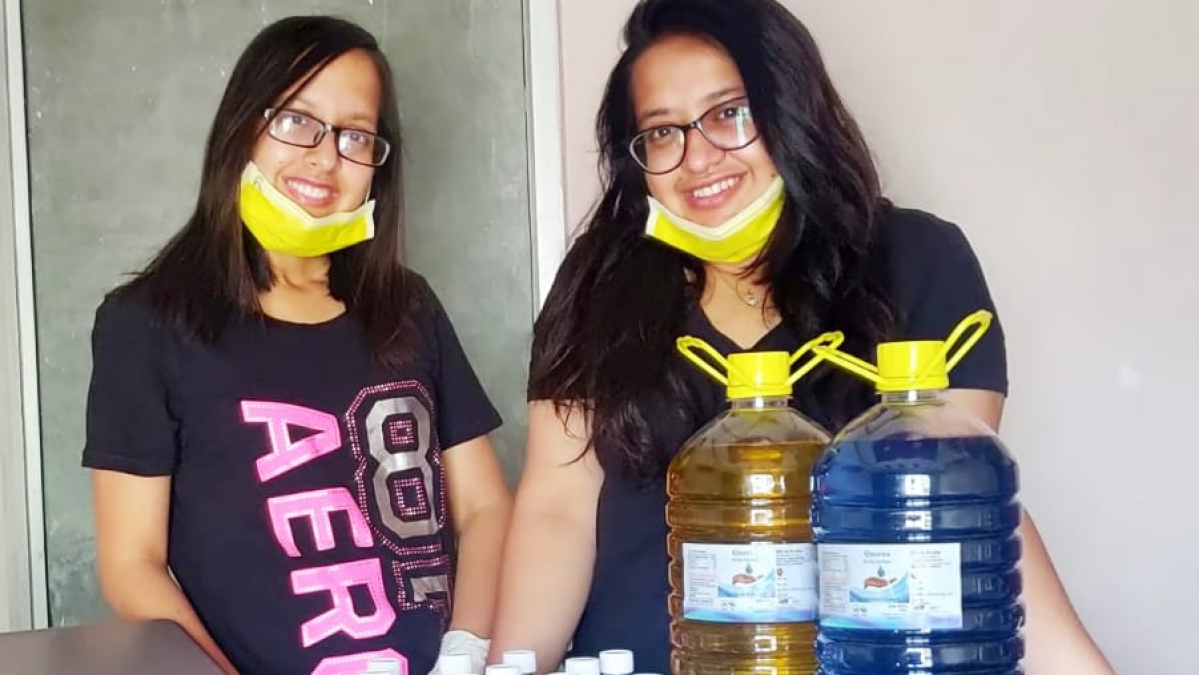 Business amid coronavirus: Indore DAVV 'queen sisters' launch startup of hand sanitisers, disinfectants