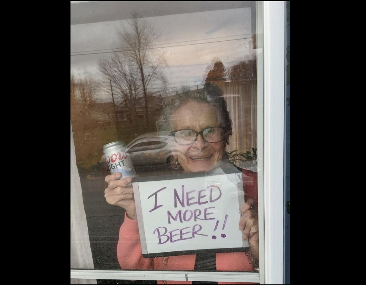 She couldn't 'beer' it anymore: This 93-year-old needs her beer during coronavirus lockdown
