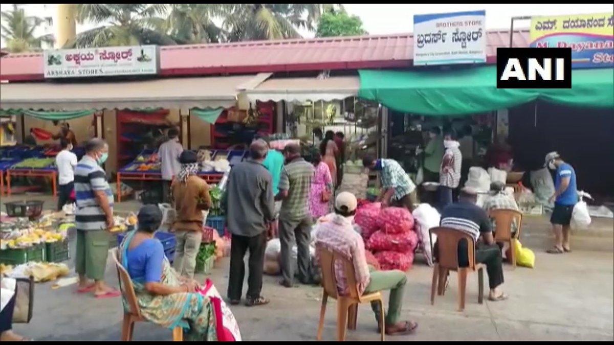 Coronavirus Update: People rush to markets during lockdown relaxation in Mangaluru