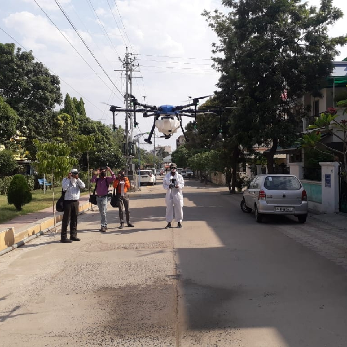 Bhopal: In a first, drones sanitize congested lanes, containment areas