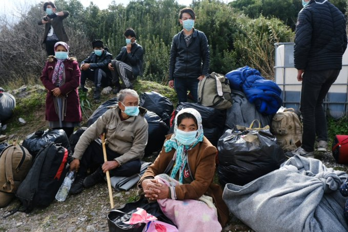 Greece on Thursday sealed off a migrant camp near Athens after 21 of its residents tested positive for the coronavirus.