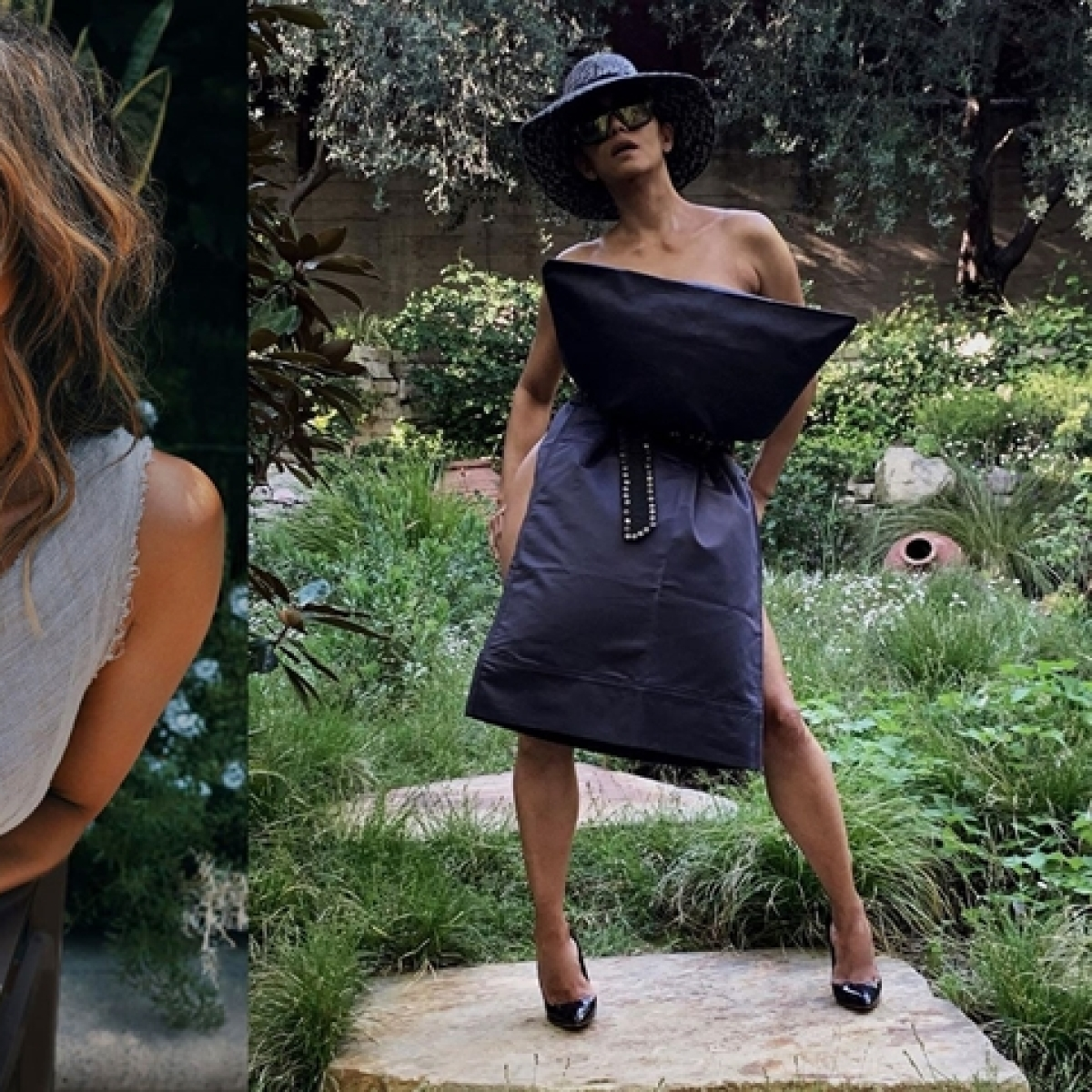Halle Berry wears nothing but a pillow as she takes the latest quarantine challenge on social media