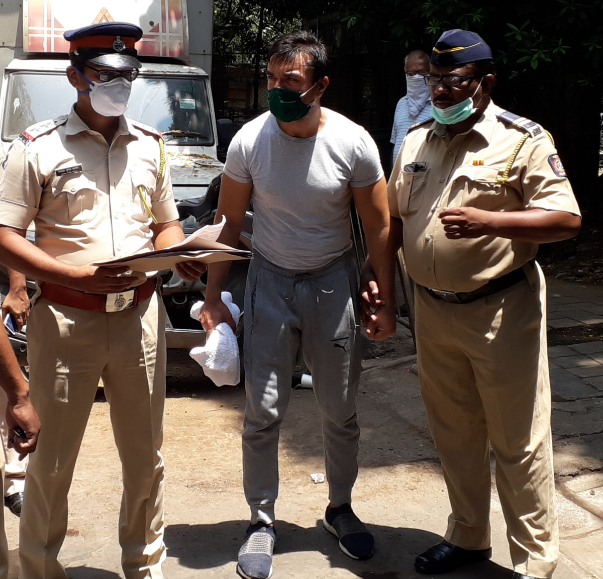 In Pics: Ajaz Khan taken to court after being arrested for 'hate speech' in Mumbai