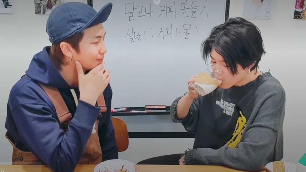 BTS members Jimin and RM make the famous 'Dalgona Coffee' amid quarantine