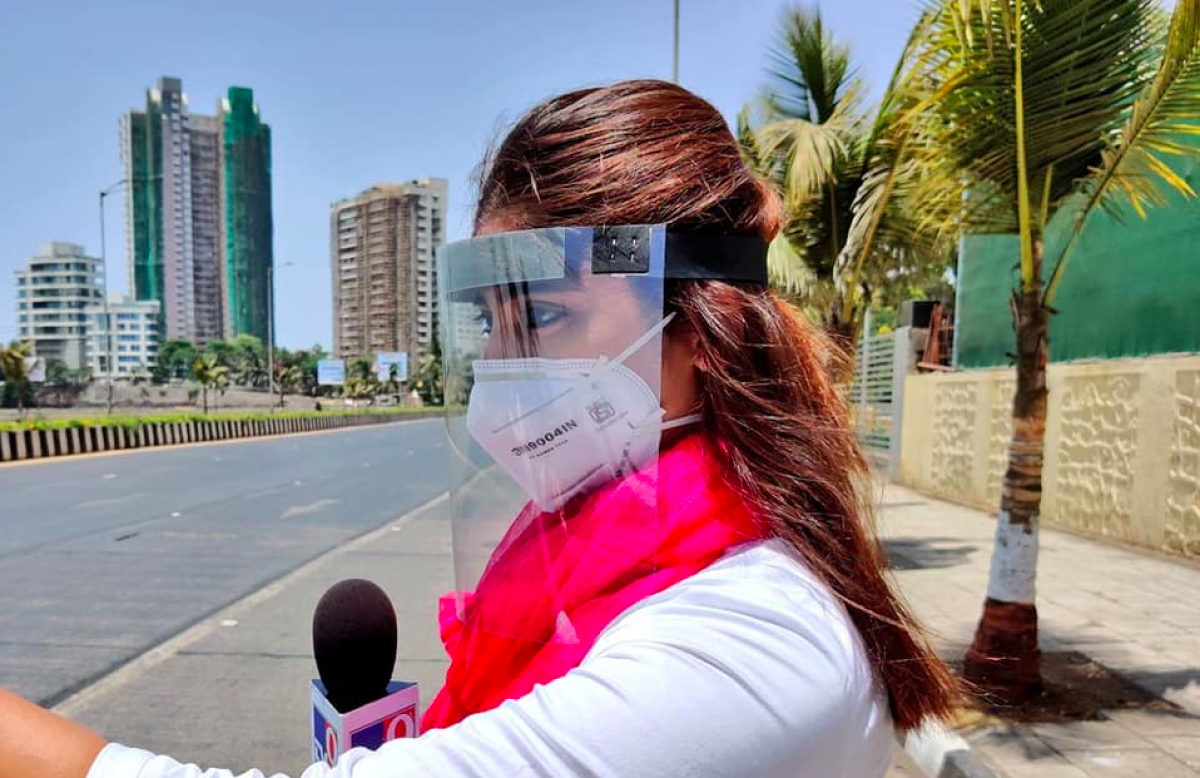 TV journalist Shivangi Thakur had been actively covering the COVID-19 pandemic in Mumbai