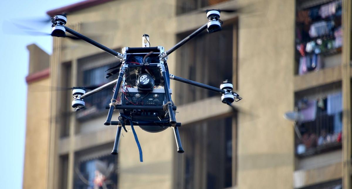Coronavirus in Mumbai: BMC uses warning drones to check lockdown violations in COVID-19 hotspot Dharavi, view pics