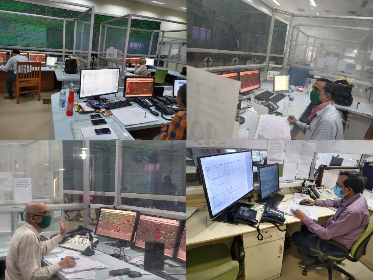 C Rly's Control Office, the war room for the safe operation of goods and parcel trains