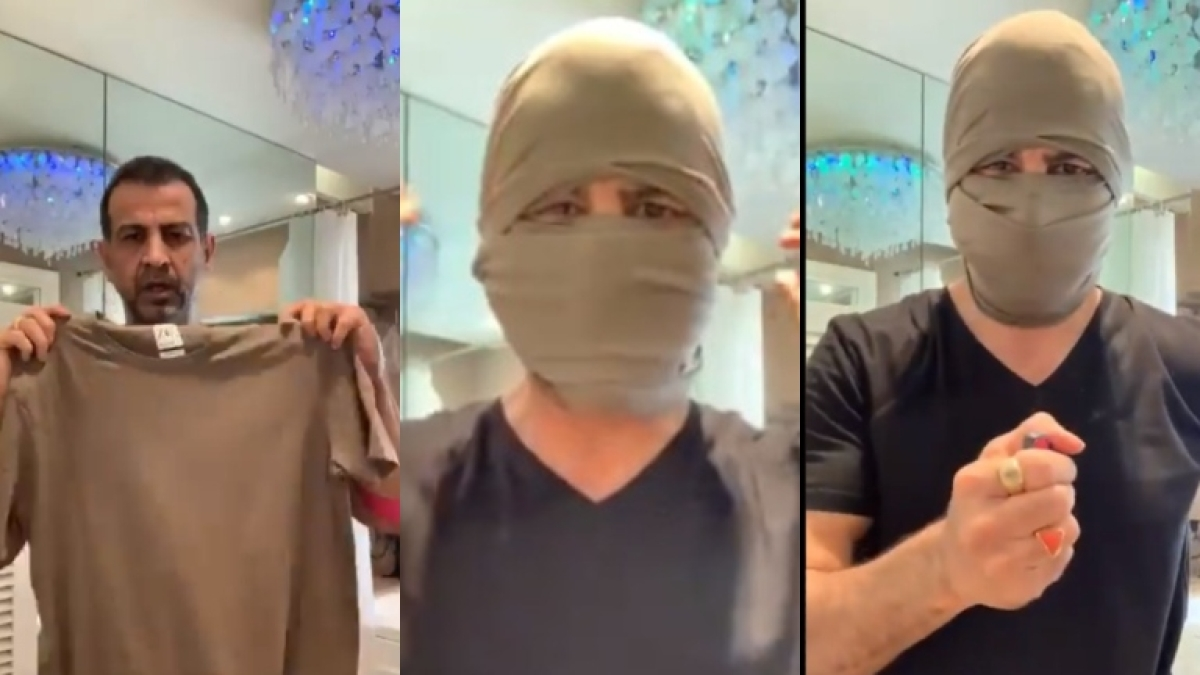 After Vidya Balan, Ronit Roy shares mask tutorial with old t-shirt, says 'Tension nahin Leneka! Simple hai!'
