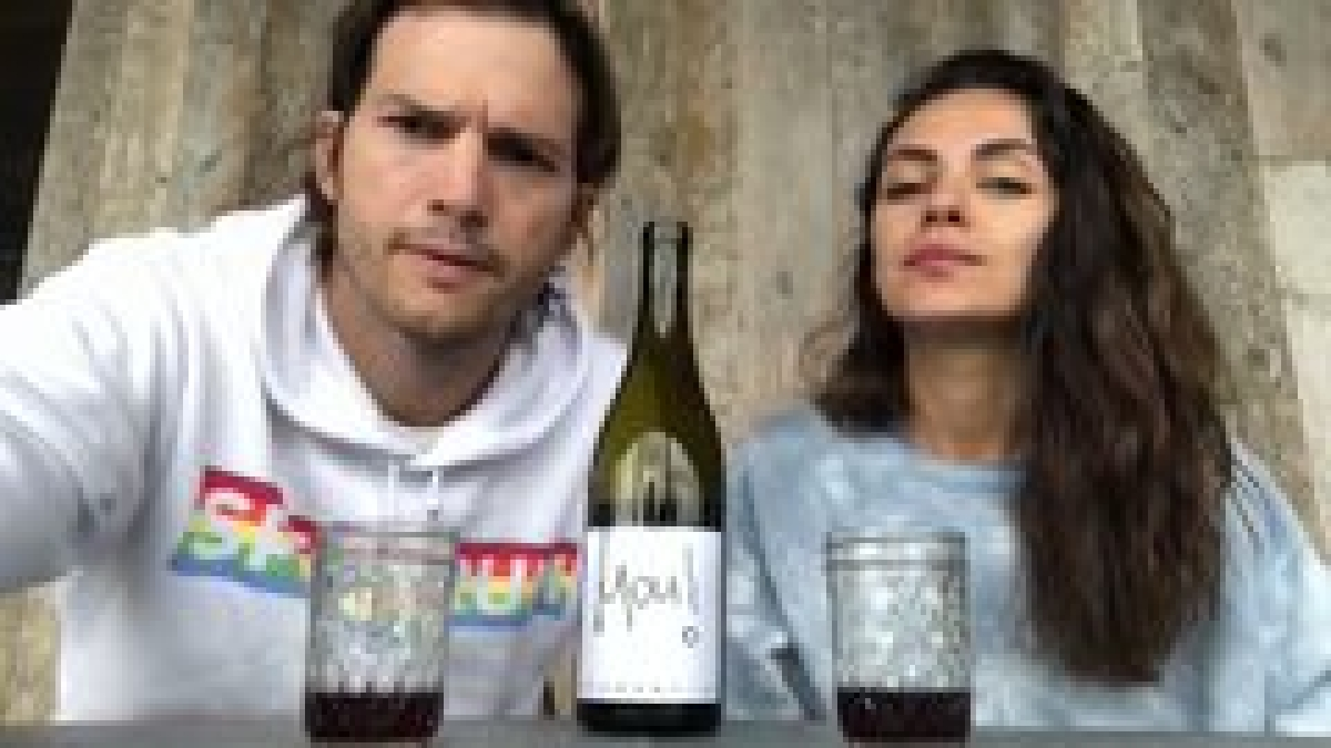 Ashton Kutcher, Mila Kunis launch their own 'quarantine wine' to raise funds for COVID-19 relief