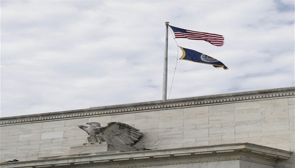Photo taken on April 29, 2020 shows the U.S. Federal Reserve building in Washington D.C., the United States. The U.S. Federal Reserve on Wednesday kept its benchmark interest rate unchanged at the record-low level of near zero, as the COVID-19 fallout continues to ripple through the country.