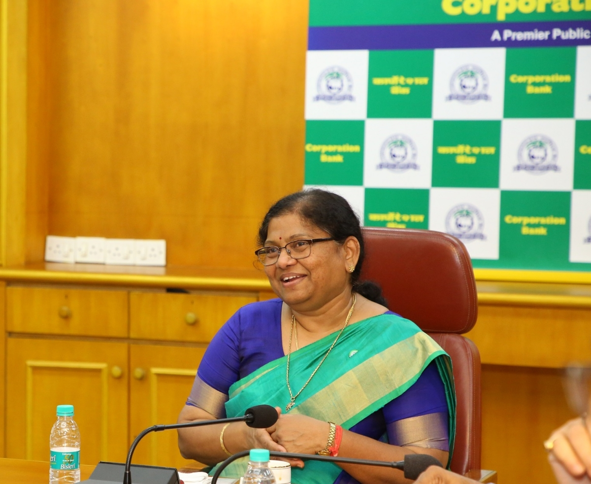 P V Bharathi, Managing Director & CEO of Corporation Bank, retires from the services of the Bank
