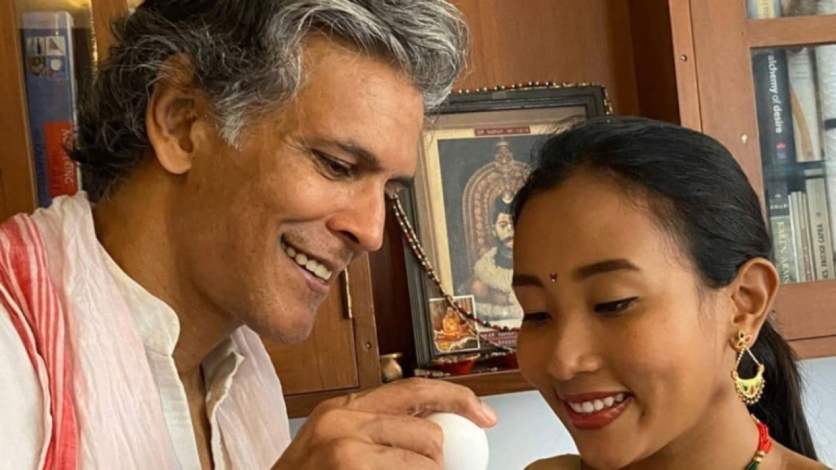 Rongali Bihu 2020: Milind Soman cheers wife Ankita with egg fight as she misses family