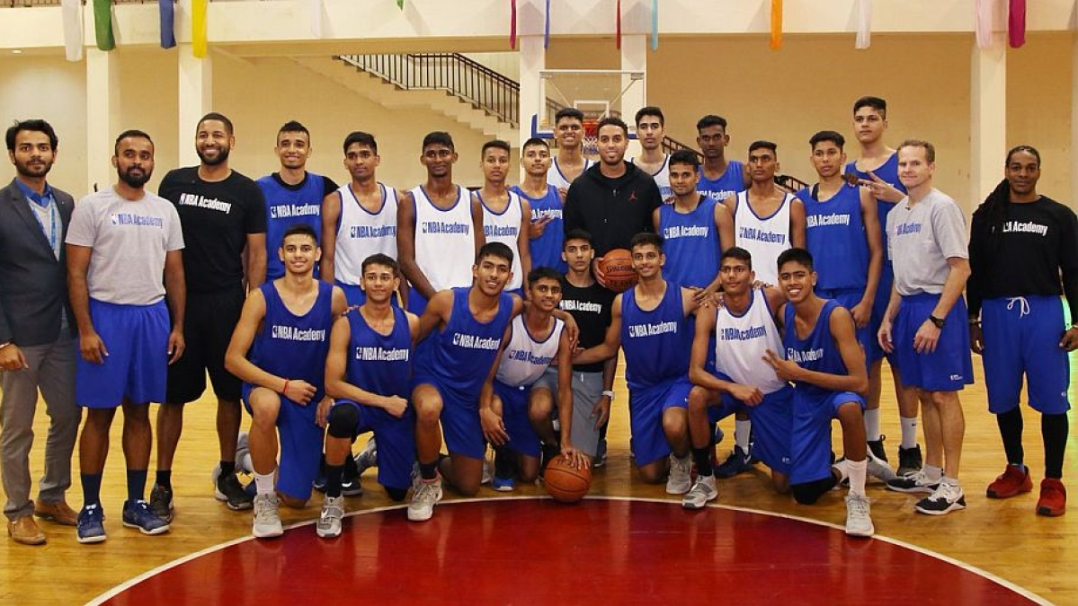 Players from NBA Academy India