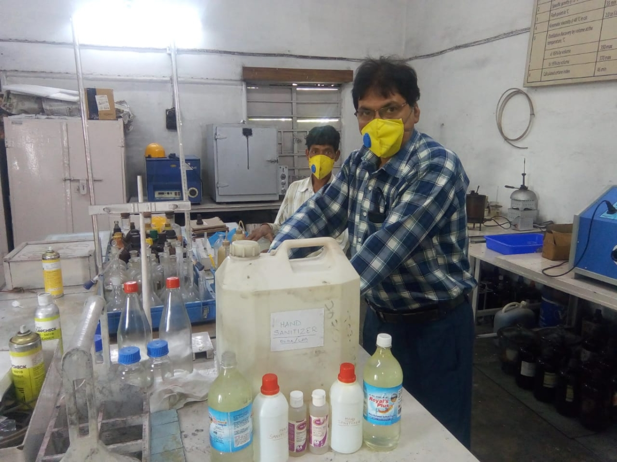 SER produces 91800 face masks & 5020 litres of hand sanitizer to fight against Covid-19