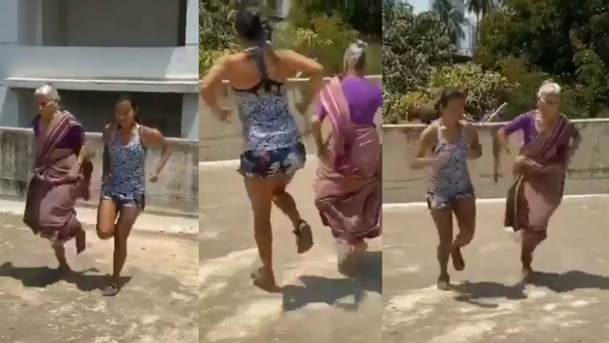 Age is just a number: Milind Soman's girls enjoy a round of 'langdi' amid coronavirus lockdown