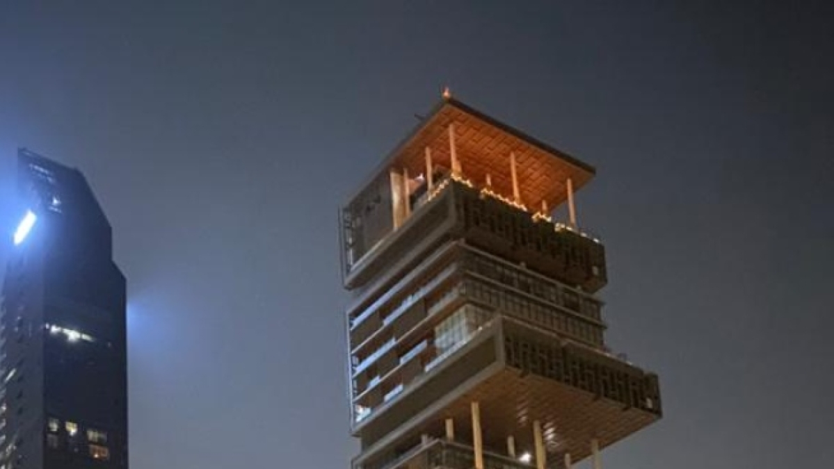 Mukesh Ambani's Antilia in Mumbai lights up for PM Modi's 9 PM 9Minutes