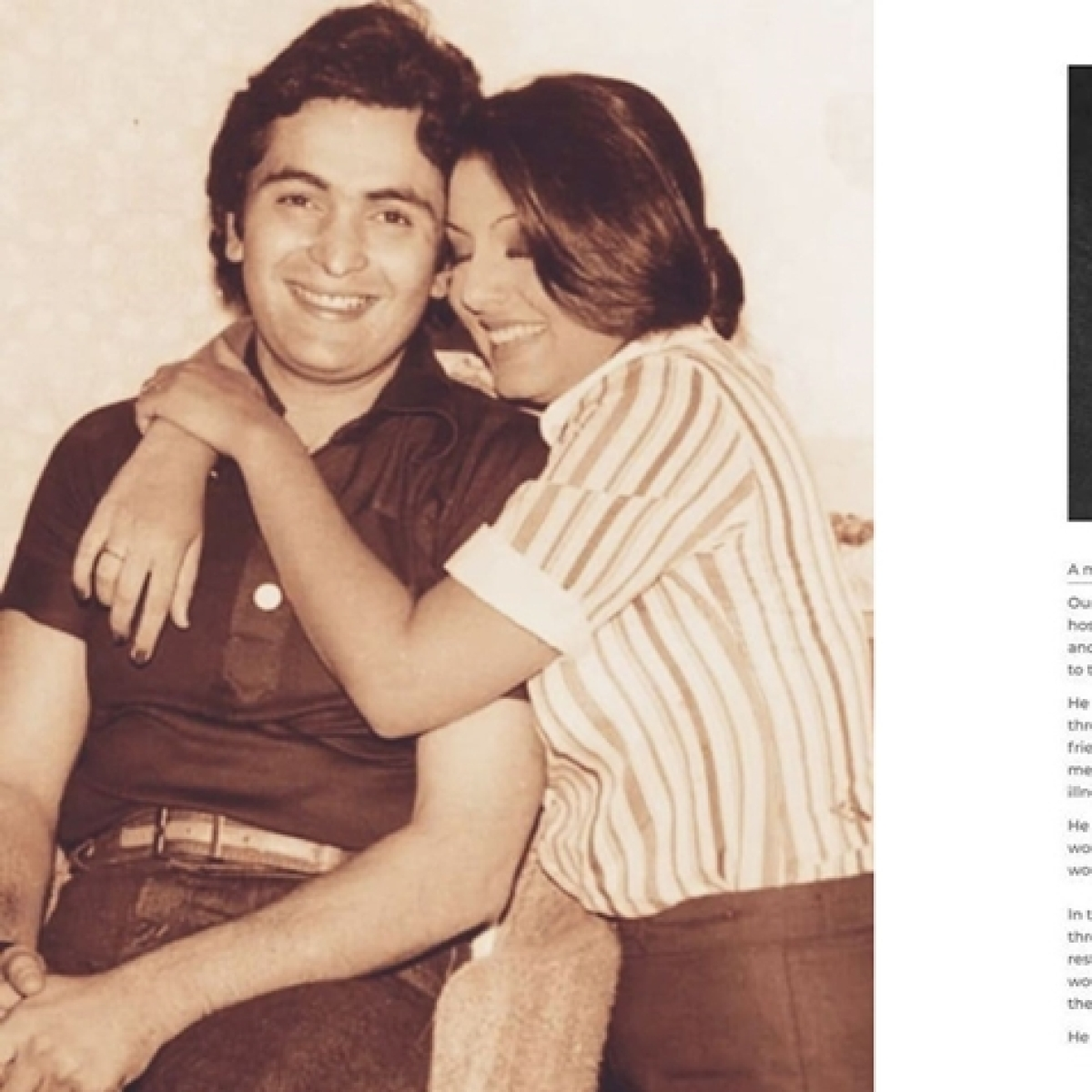 Rishi Kapoor death: Neetu Kapoor shares emotional Instagram post