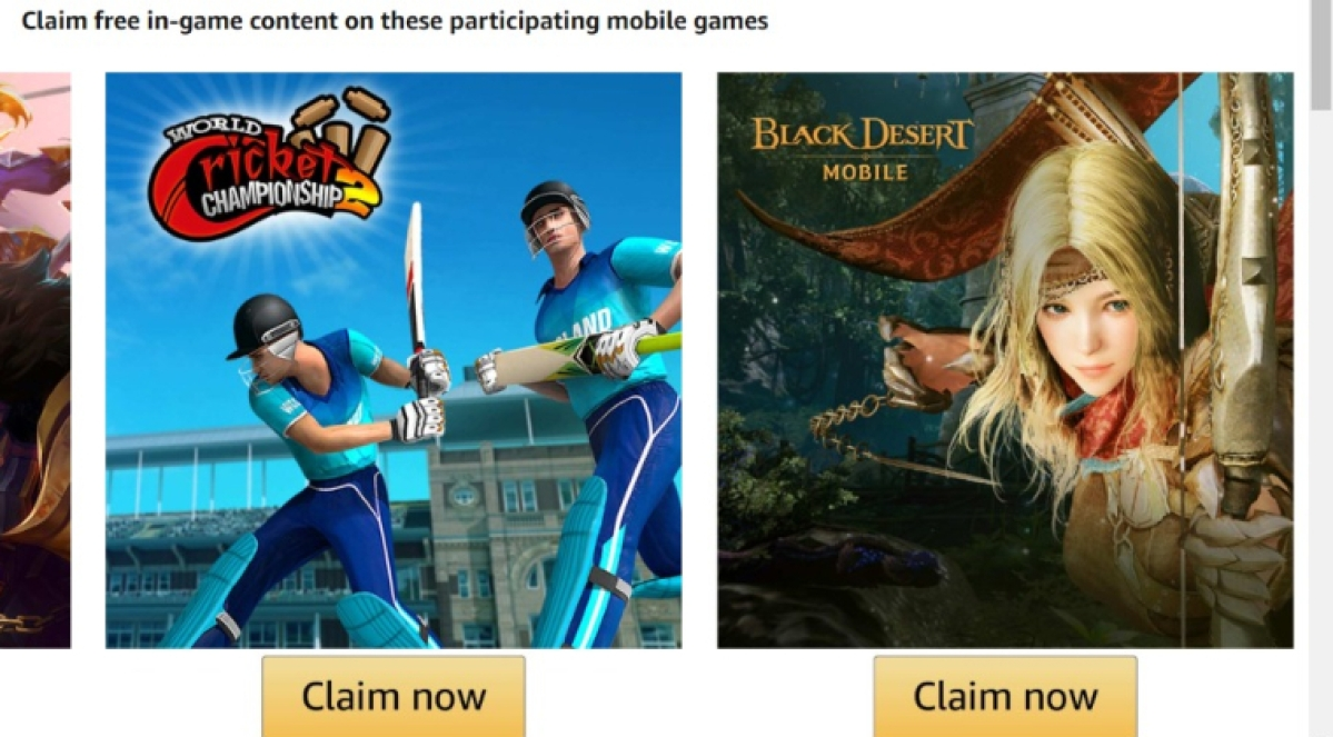 How to avail exclusive Amazon Prime free in-game benefits for mobile games?