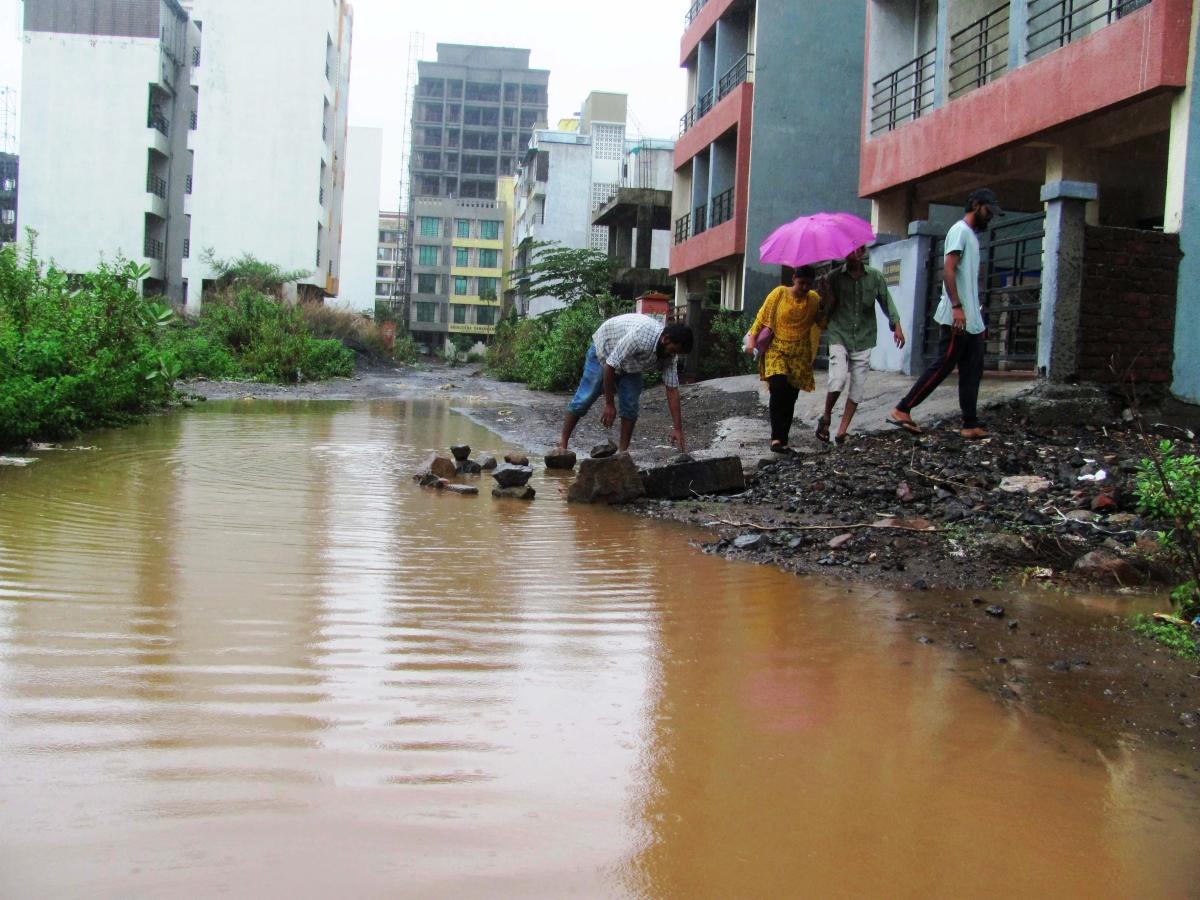 Ulwe, Navi Mumbai, during monsoon season