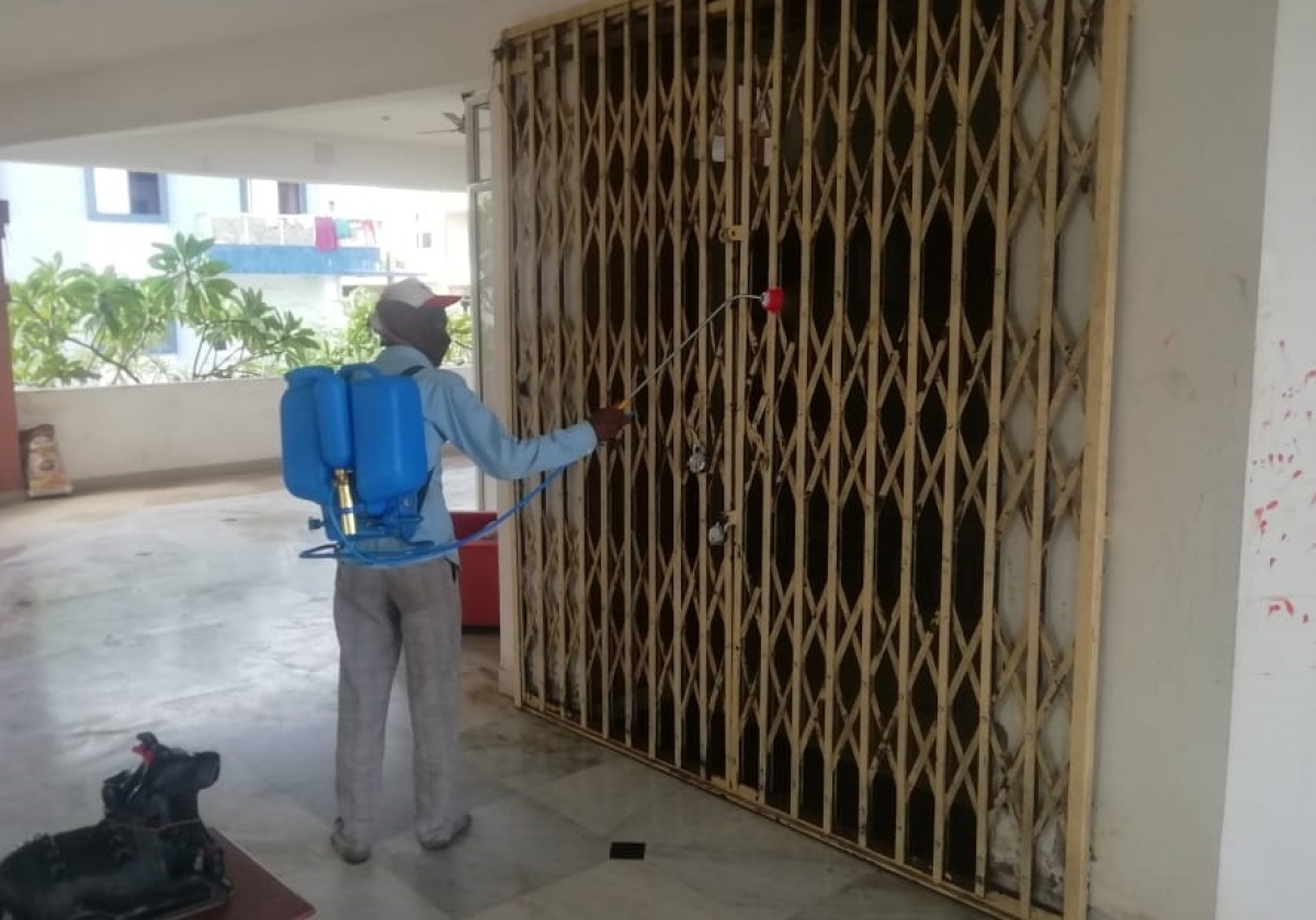 Regular sanitization ensured in the buildings of the township