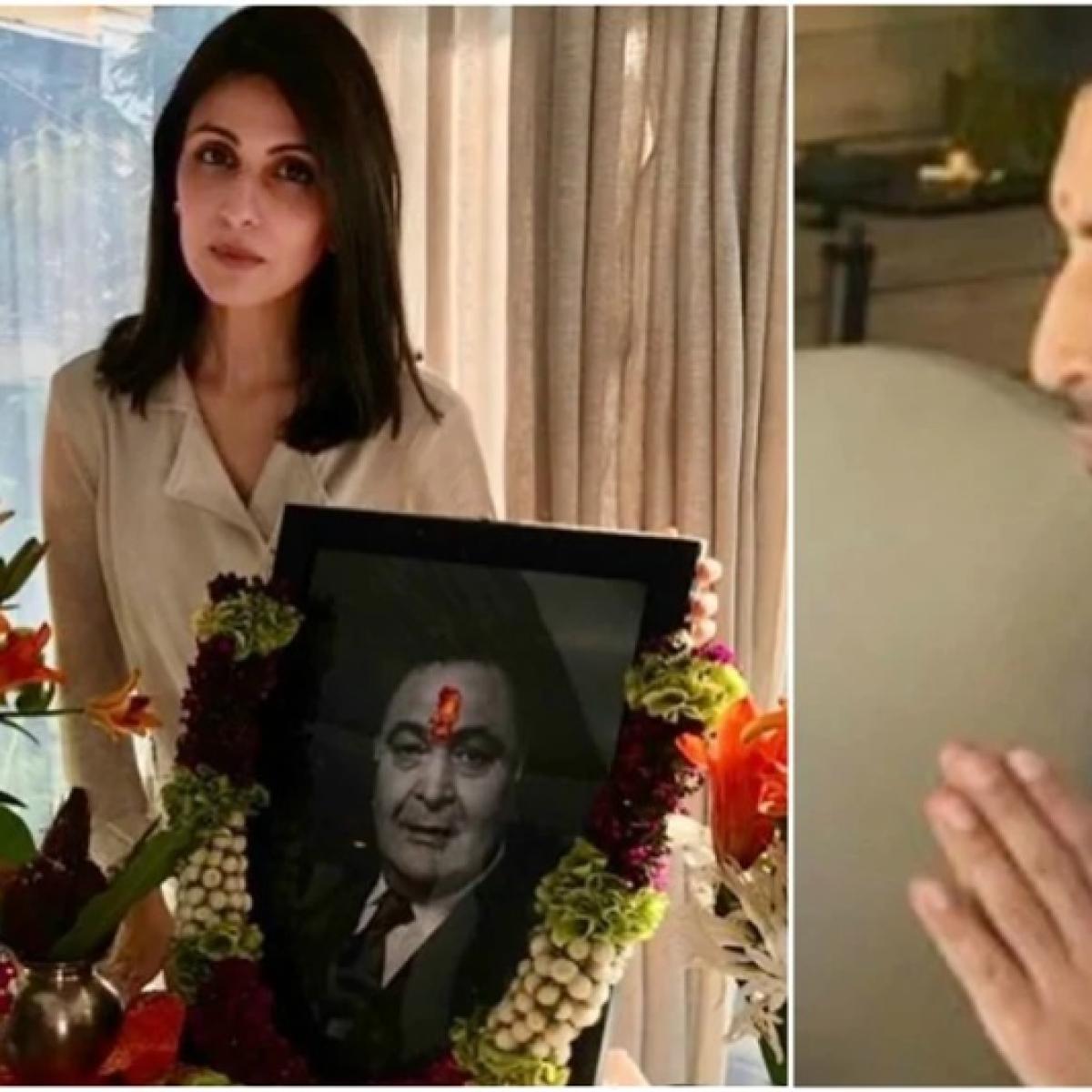 Rishi Kapoor's terahvi: Alia, Ranbir, Karisma, Riddhima arrive to offer prayers