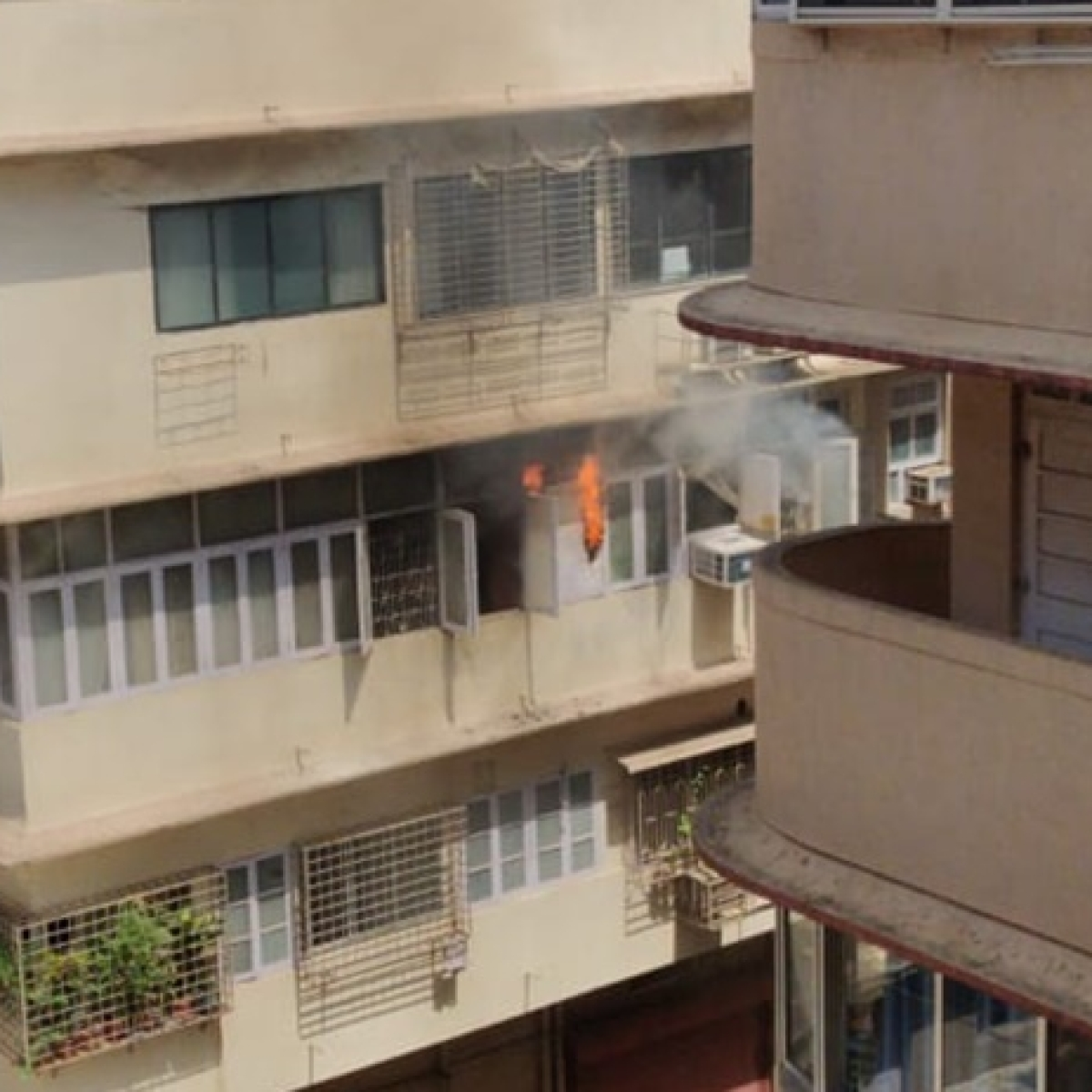 Fire breaks out at a residential building near Wankhede stadium in Mumbai