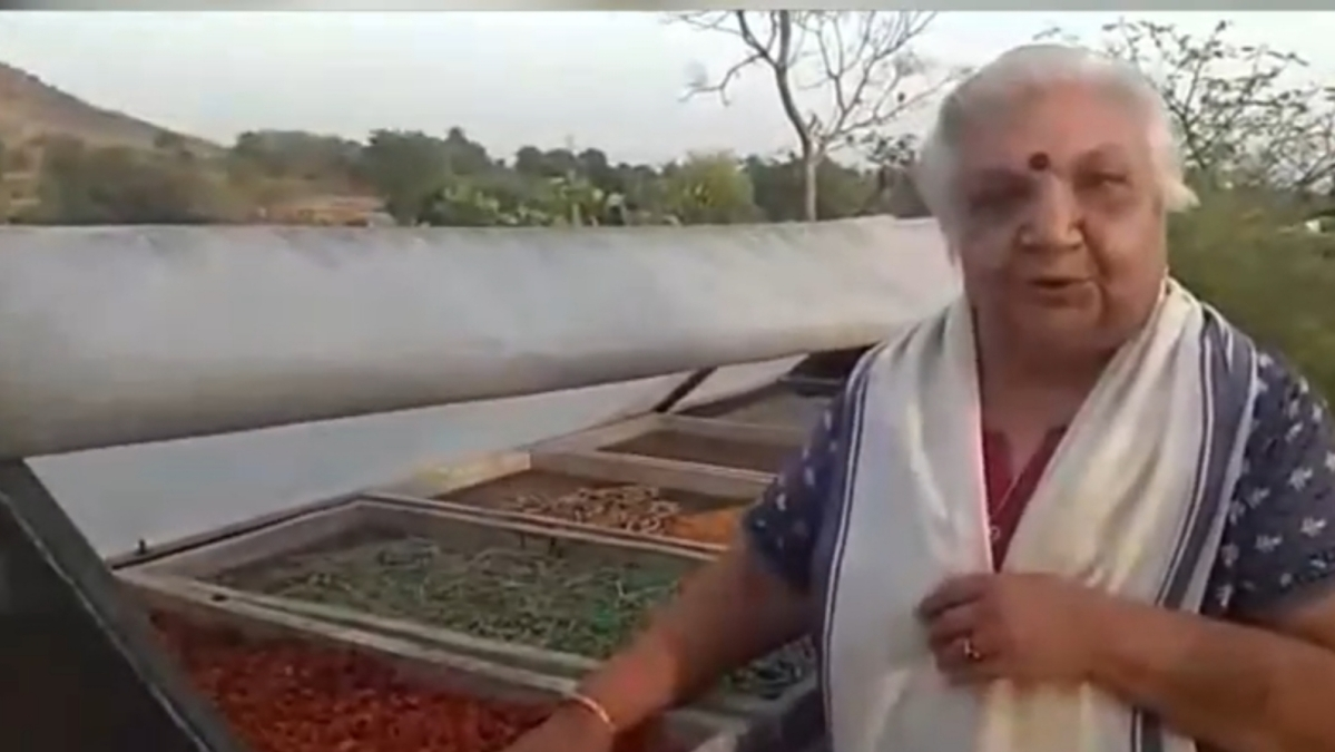 Farmers in Indore use solar dryers to save their produce during lockdown