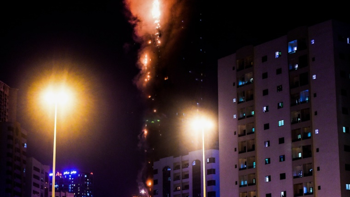UAE: Massive fire breaks out in Sharjah tower; many Indians trapped inside