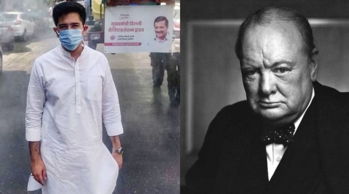 Raghav Chadha and Winston Churchill
