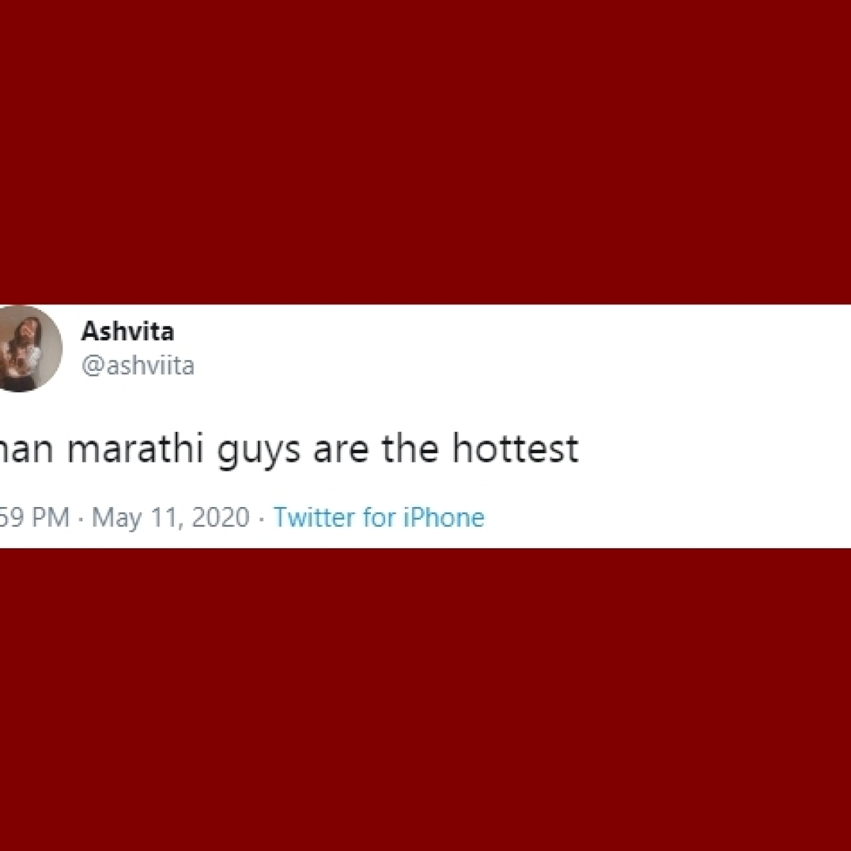 Twitter user says 'Marathi guys are the hottest', internet has a meltdown