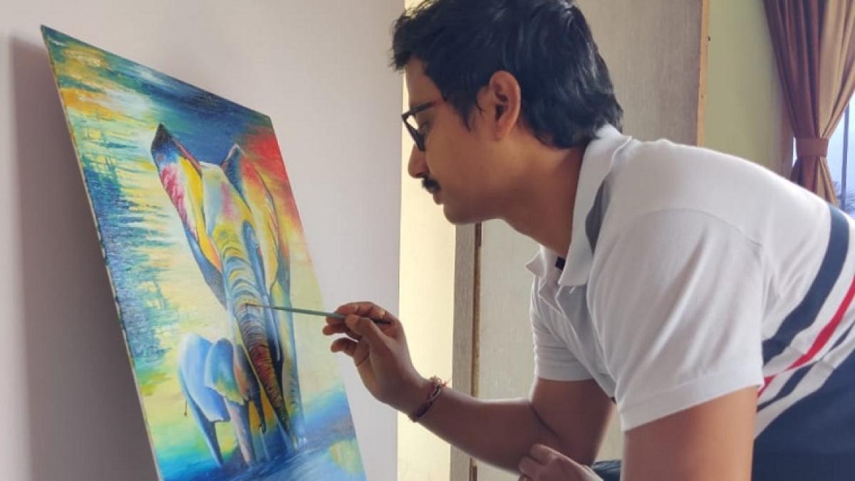 Amit Dasgupta has taken up painting again