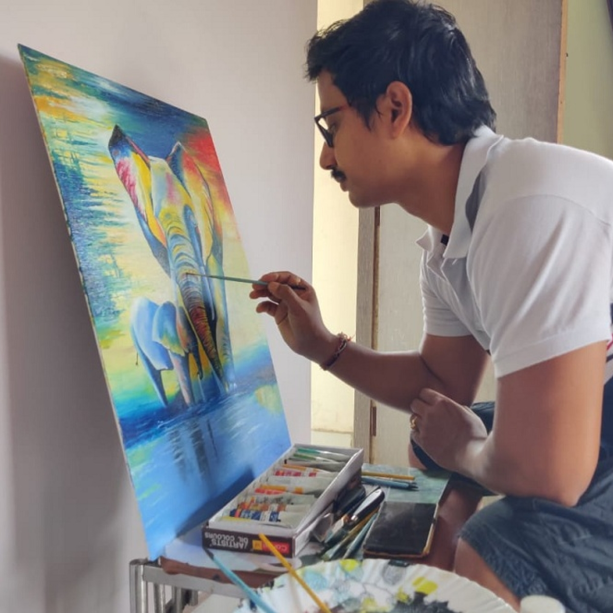 Amit Dasgupta has taken up painting again