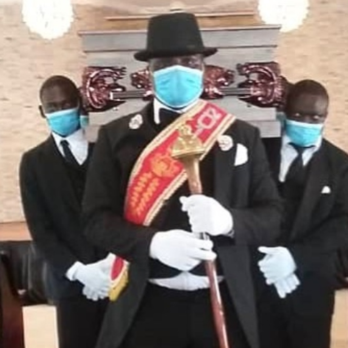 Revealed - what the the viral Ghanaian pallbearers really think of your memes amid COVID-19 pandemic