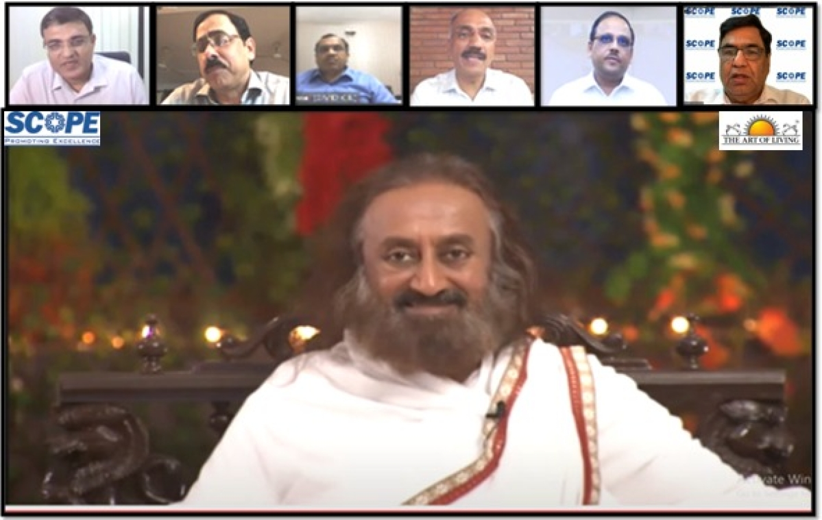 SCOPE organises webinar with Gurudev Sri Sri Ravi Shankar