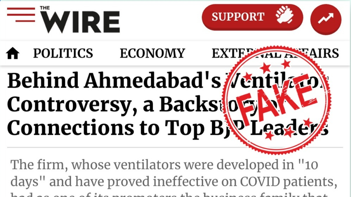 PIB Fact check of The Wire's piece on ventilators in Gujarat leaves netizens baffled