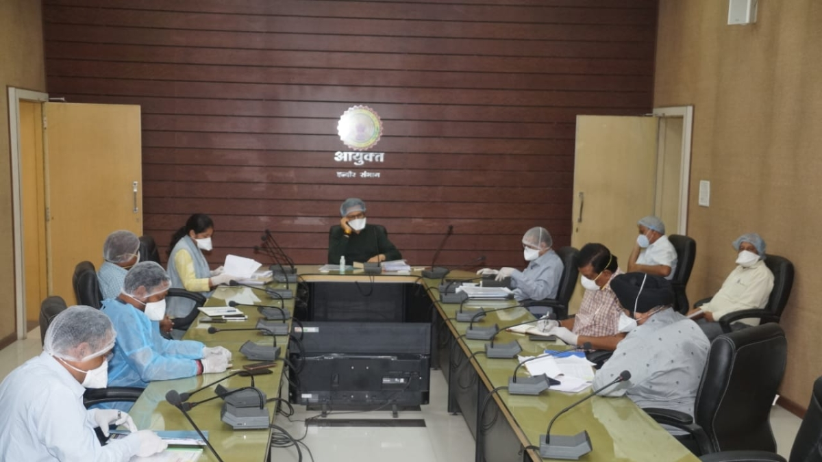 IMC officers in a meeting for budget for fiscal 2020-21 on Friday.