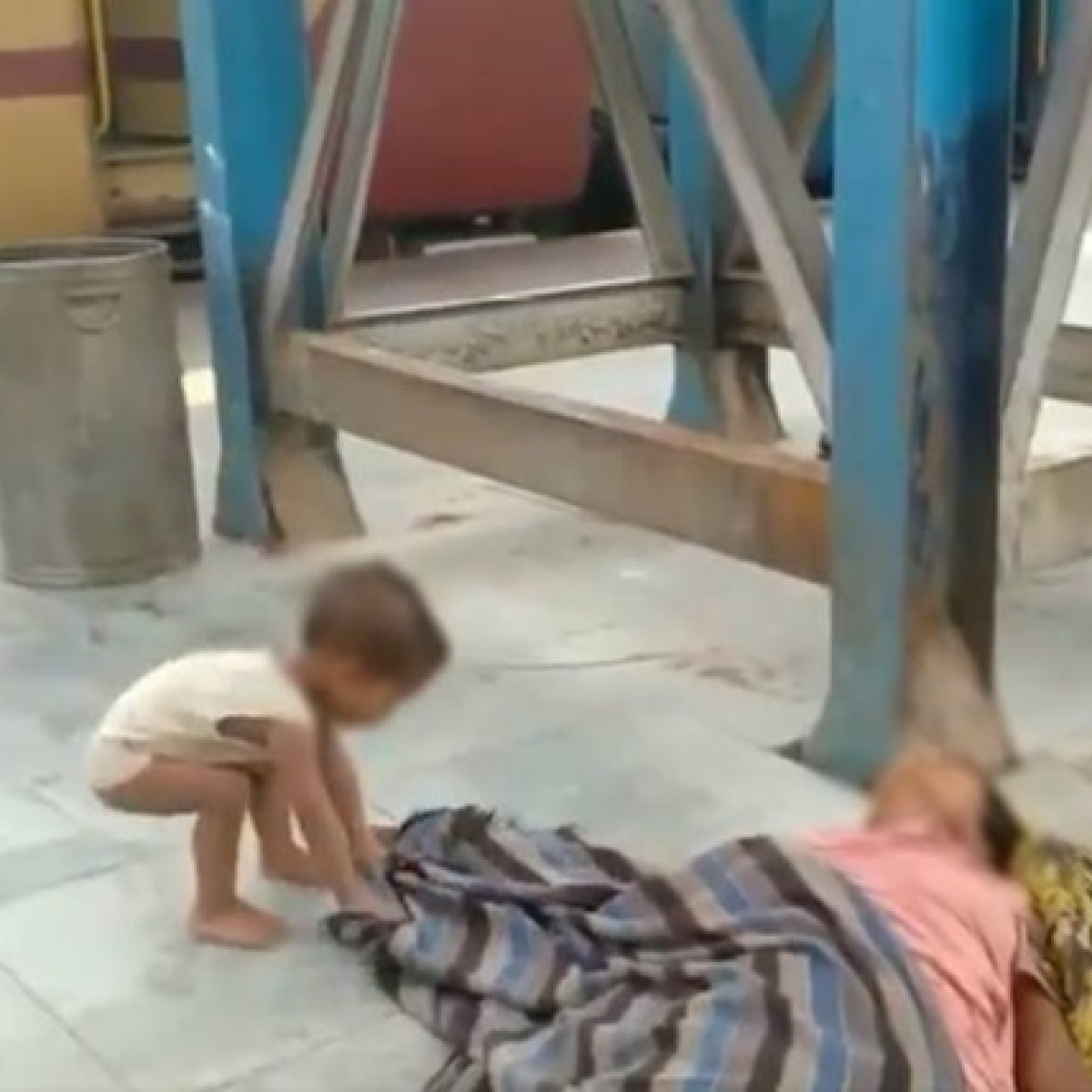 Baby playing with dead mother's shroud: Full story of viral video that will shame humanity