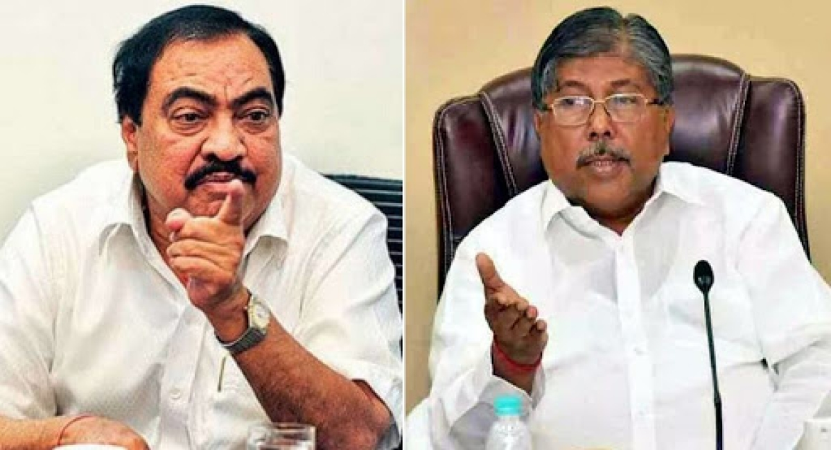 All political benefits can't go to one family, Chandrakant Patil counters Eknath Khadse