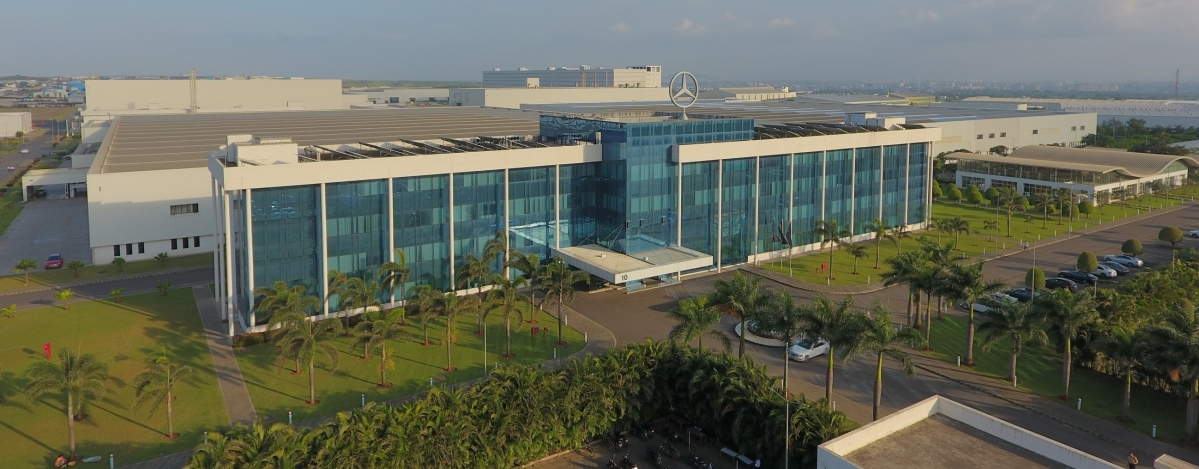 Mercedes-Benz India facility in Pune