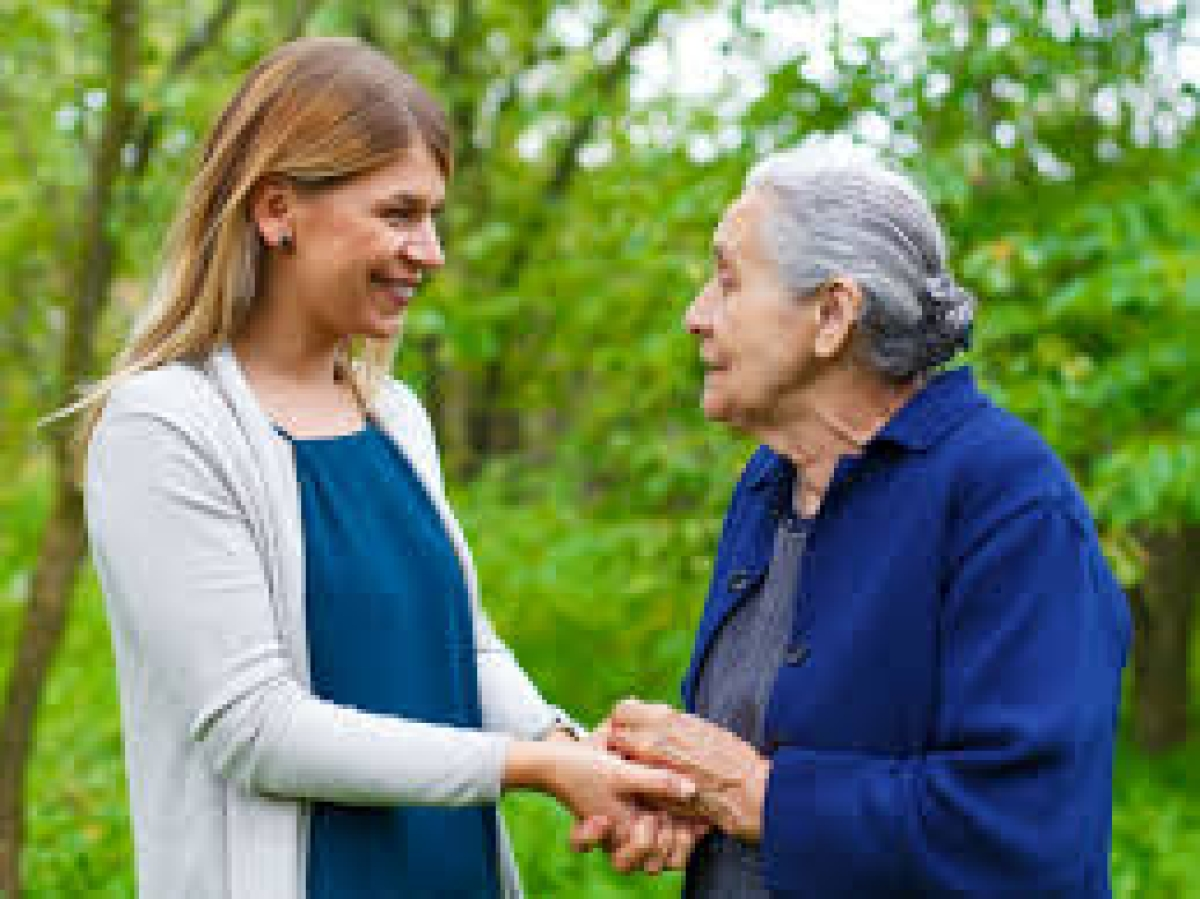 Sharing a good relationship with elderly  adults can help them stay active