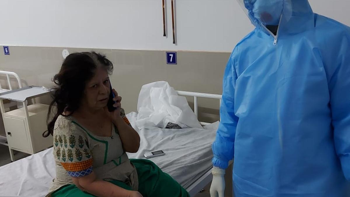 Coronavirus patients talk to kin