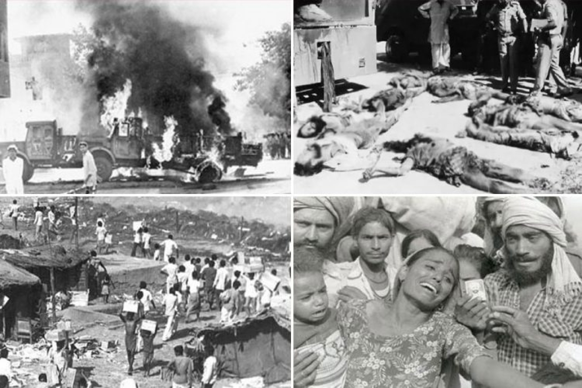 Scenes from the Sikh pogrom of 1984