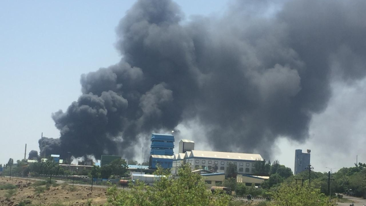 Fire breaks out at a chemical factory in Pune's Kurkumbh MIDC area