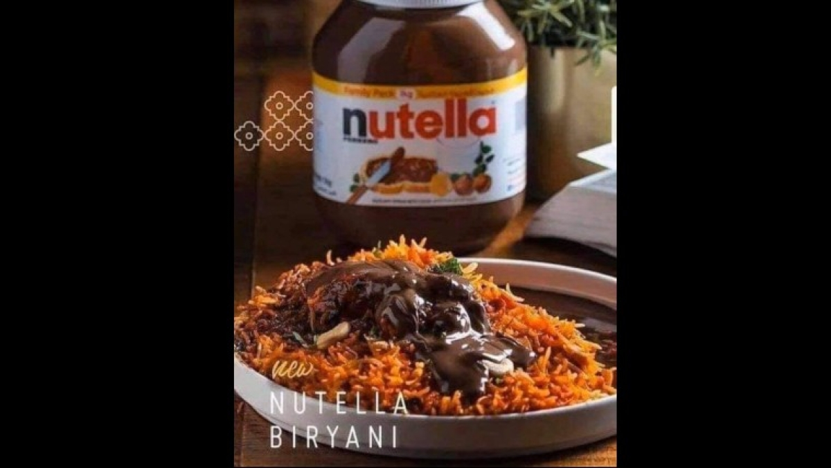 'Worst food combination ever': Twitter reacts to a viral photo of Nutella Biryani