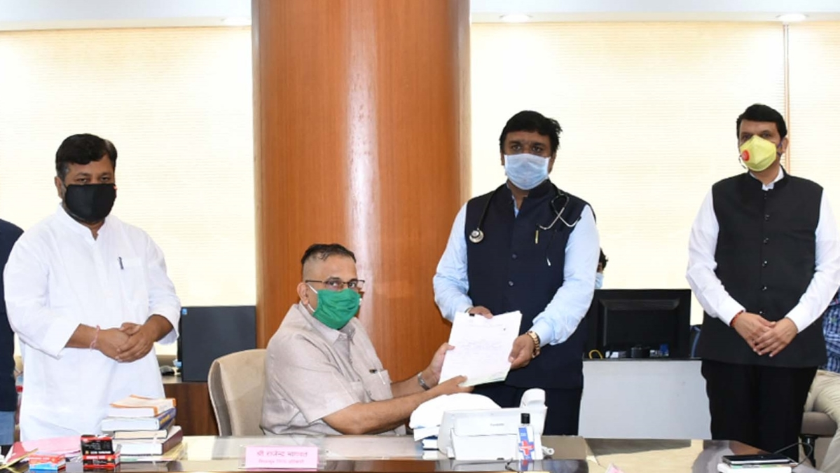 'Does he want to join COVID yodha programme?': BJP leader trolled for wearing stethoscope while filing nomination for Maharashtra MLC election