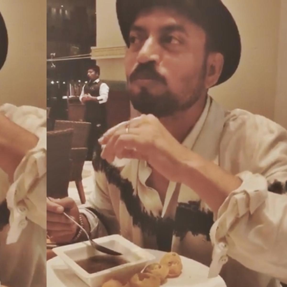 Unseen video of Irrfan Khan enjoying pani puri is making the internet smile after his demise