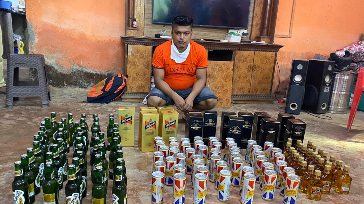Navi Mumbai: 118 bottles of Indian-made foreign liquor seized from unemployed man