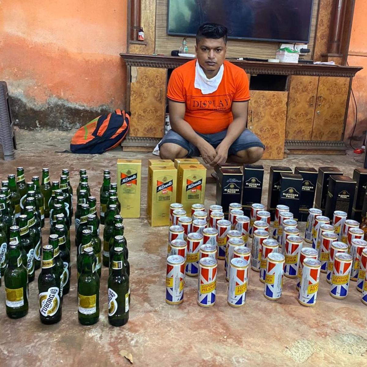 Navi Mumbai: 118 bottles of Indian-made foreign liquor seized from unemployed man