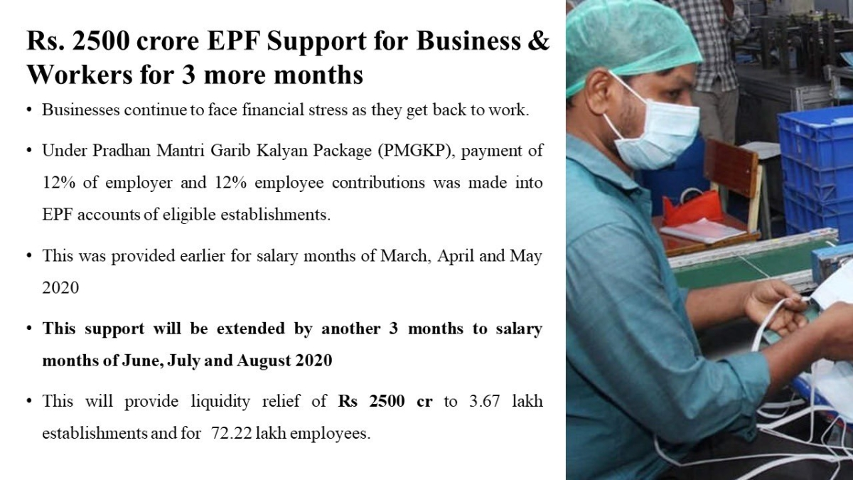 Nirmala Sitharaman announces reduction of EPF contribution from 12% to 10%