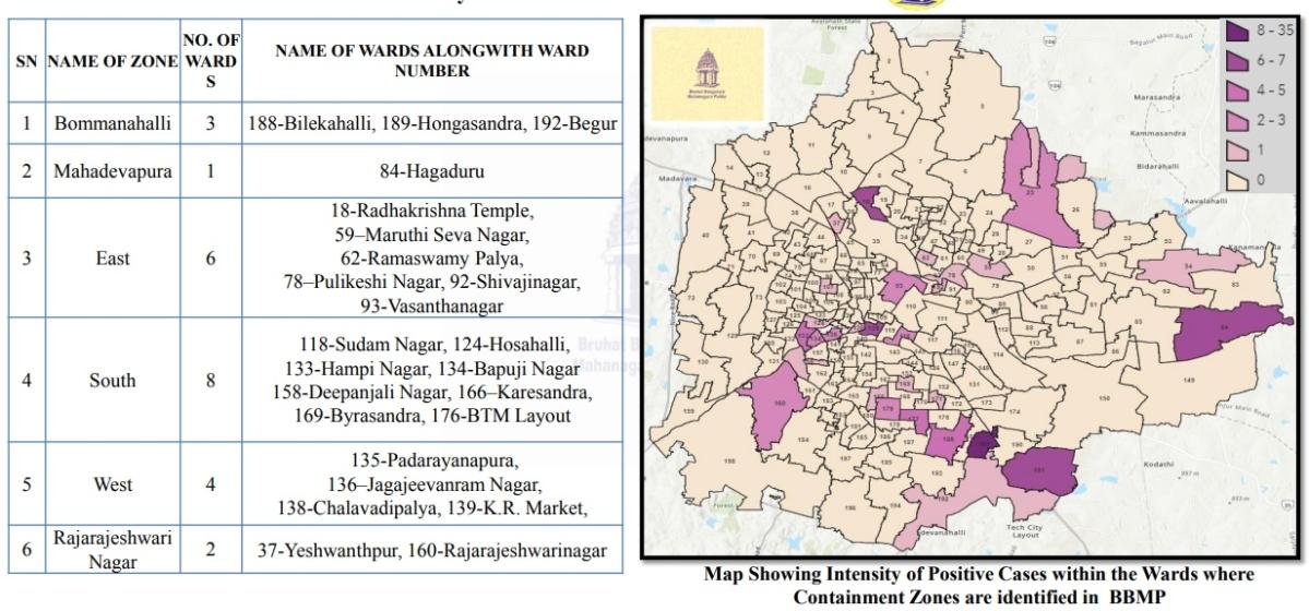 Coronavirus in Karnataka: Full list of containment zones in Bengaluru